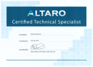 Altaro Certified Technical Specialist
